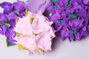 Bouquet Artificial purple flowers