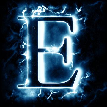 Lightning letter E