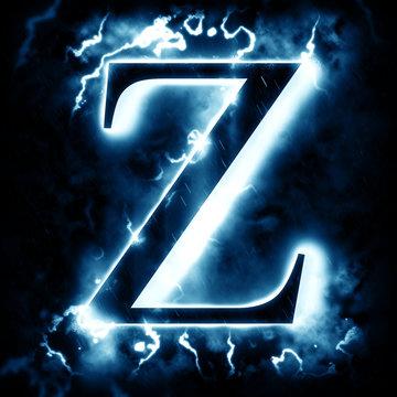 Lightning letter Z
