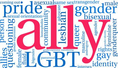 Ally LGBT Word Cloud