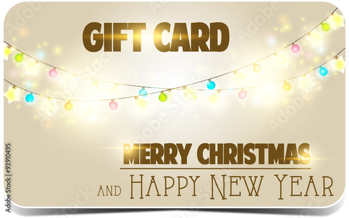 merry christmas and happy new yeargift card