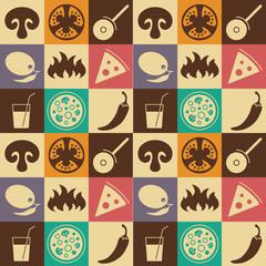 """Seamless """"Pizza"""" pattern."""