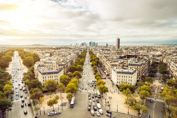 Paris evening Panorama