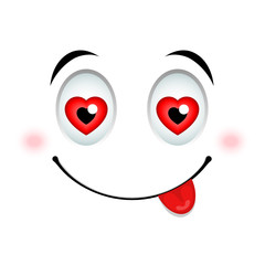 In love emoticon sign