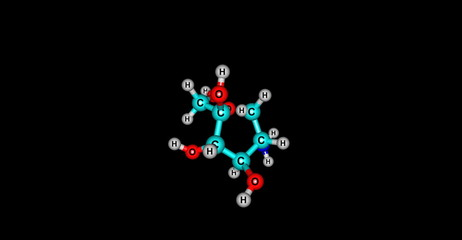 Gucosamine molecular structure on black background