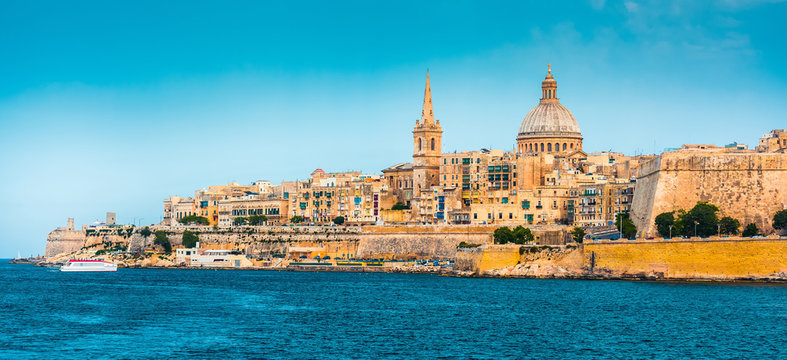 View of Marsamxett Harbour and Valletta