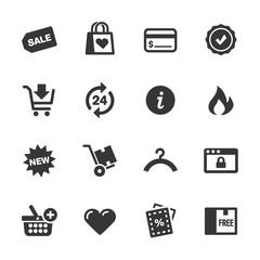 Shopping Icons, Mono Series