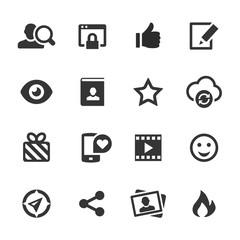 Social Media Icons, Mono Series