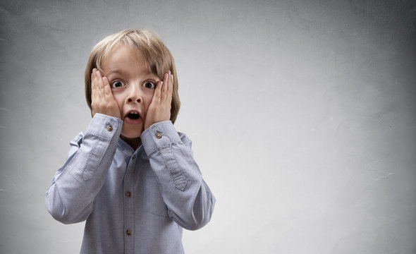 Shocked and surprised child