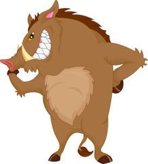 angry warthog cartoon