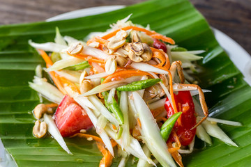 papaya salad and thai food