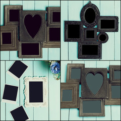 Empty frames collage
