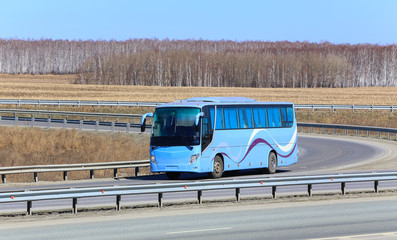 bus goes on the highway