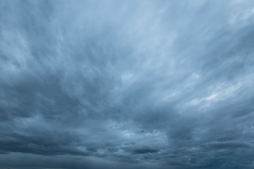 rainclouds and nimbus in rainy season