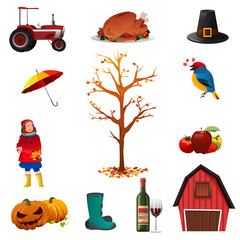 Fall or Autumn icons