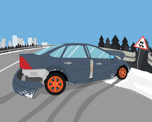 Car skidded