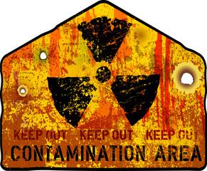 Radiation warning, vector illustration,fictional artwork