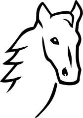 Horse head hand drawn