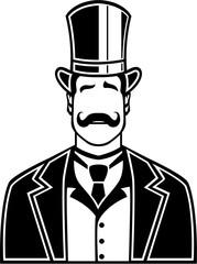 Vintage Boss Black n White vector