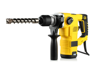 rotary hammer with a drill