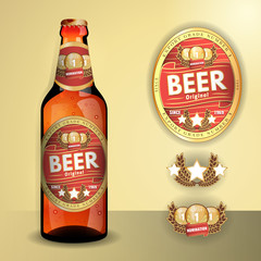 realistic design for its bottle and label