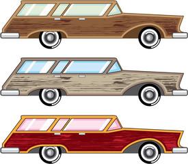 wood trim station wagon vector