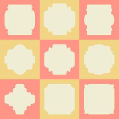 Set of retro vintage badges and labels on squares