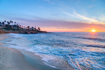 Magnificent sunset in La Jolla  California Wall mural