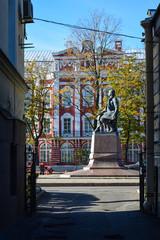 M.V. Lomonosov's monument in St. Petersburg, Russia.