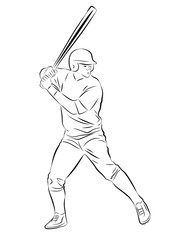 sketch baseball player