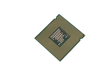 CPU isolated on white background