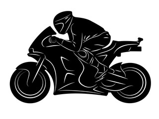 motorbike racer, vector illustration