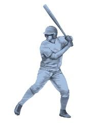 sketch baseball player