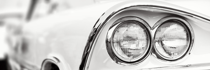 Fotomurales - Classic car headlights