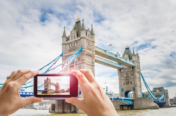 Taking a Photo of Tower Bridge with a Smartphone