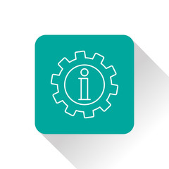 Technical information web icon, vector illustration