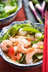 Sea food Chow Mein asian style dish