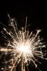 sparkler or Bengal fire - scattering sparks