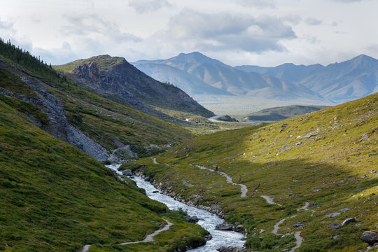 Alaskan landscape picture of Denali