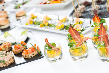 Fingerfood-Buffet in der Gastronomie