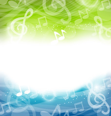 Background with Musical Elements