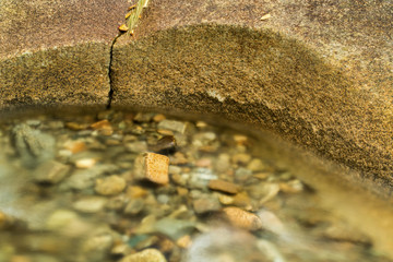 Close-up of clear pool with stones, Lincoln, New Hampshire.