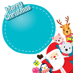 Santa Claus, Animals And Gift Boxes, Merry Christmas, Xmas, Happy New Year, Objects, Animals, Festive, Celebrations