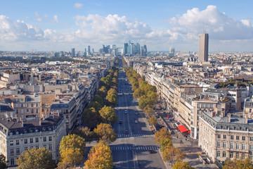 Spectacular Parisian cityscape overlooking La Defence
