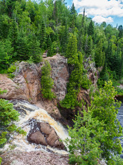 Edge of the HIgh Falls of Baptism River at Tettegouche State Par