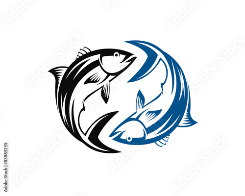 yin yang fish stock image and royalty free vector files on fotolia rh fotolia com Dolphin Yin Yang Tribal Tattoo Dolphin Yin Yang Tattoo Designs