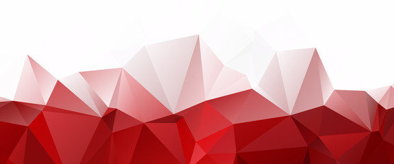 White Red Triangular Abstract background