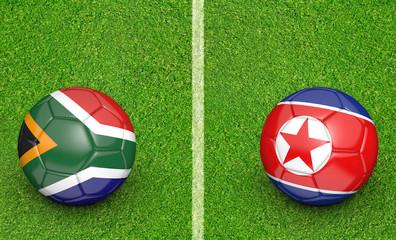 Team balls for South Africa vs North Korea soccer tournament match