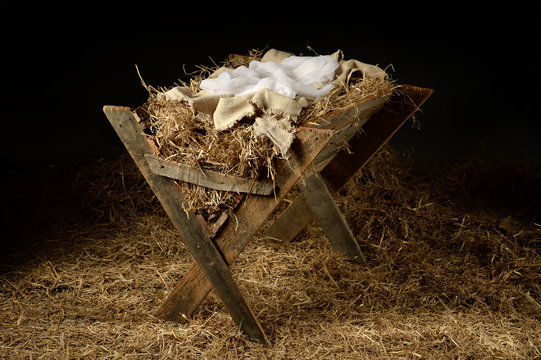 Old Manger with Soft Clothes