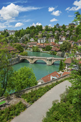 Fototapete - beautiful landscape of Bern, Switzerland